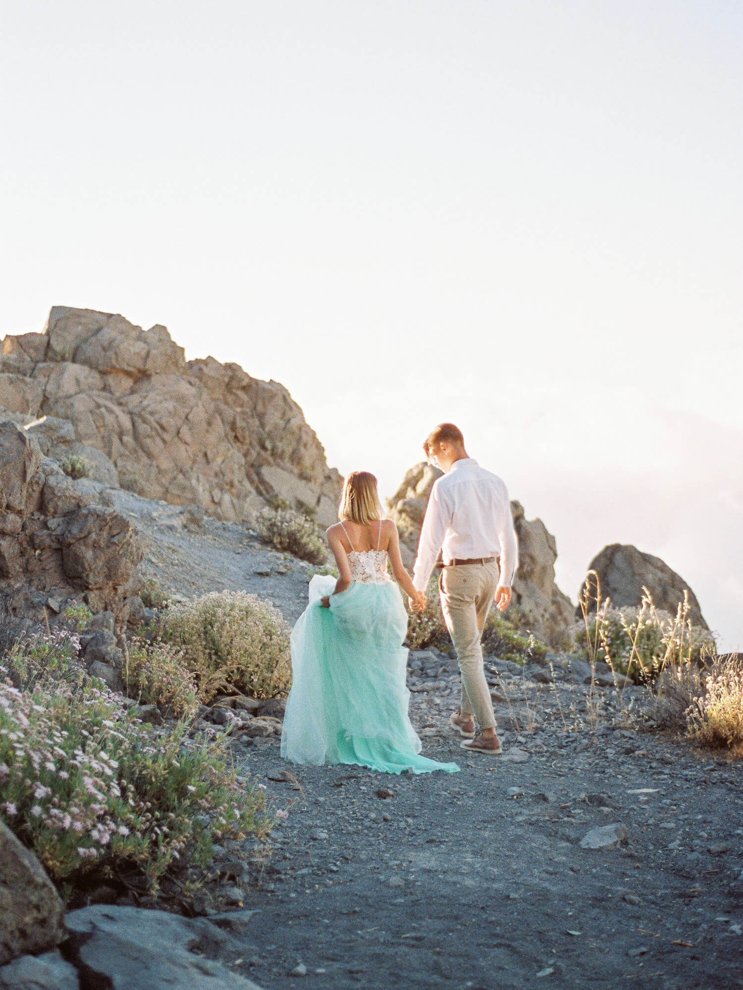 romantic film photo session near volcano Teide in Tenerife Canary Islands Spain