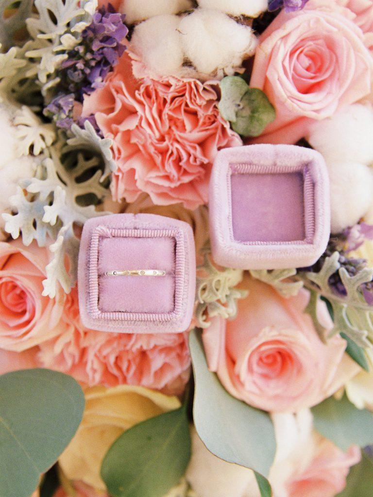 wedding ring box purple velvet