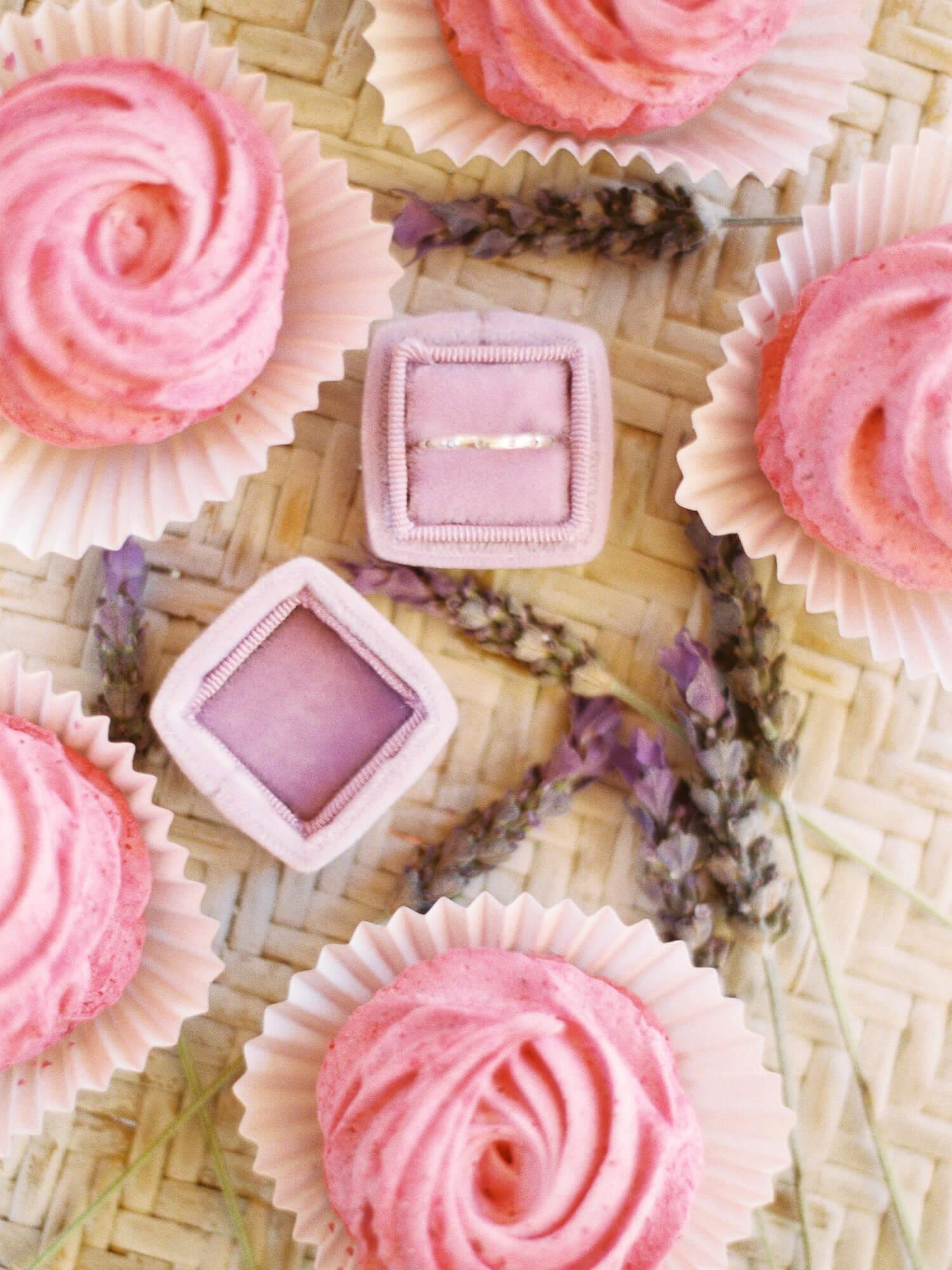 wedding velvet ring box