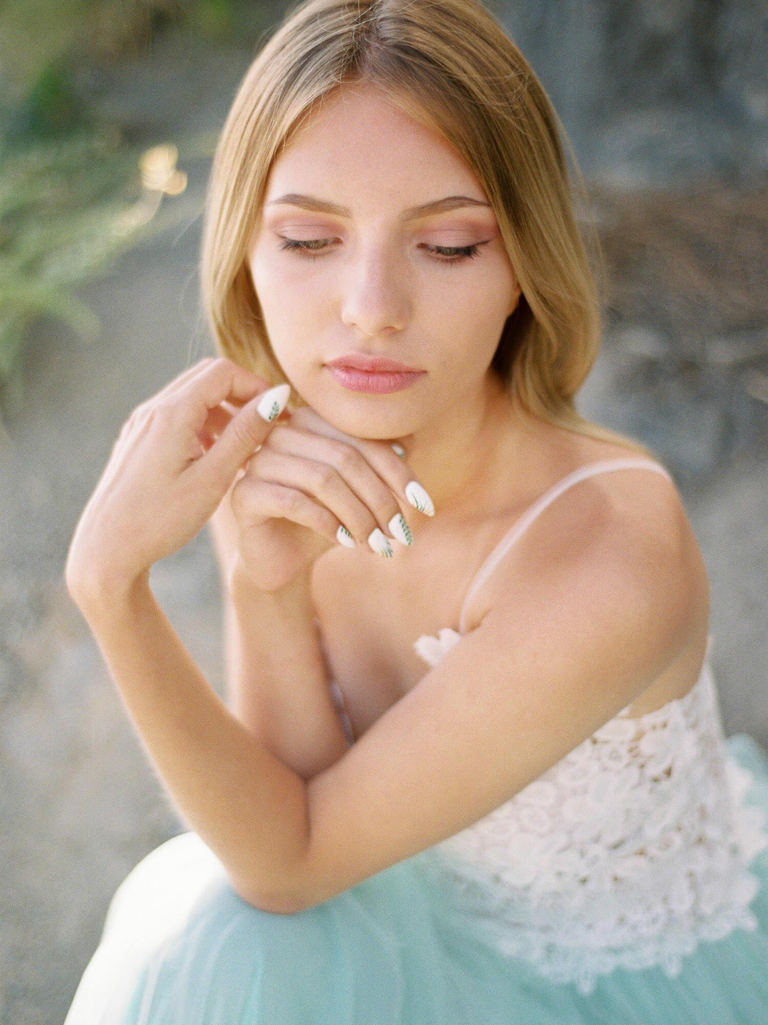 bridal portrait film photography Tenerife