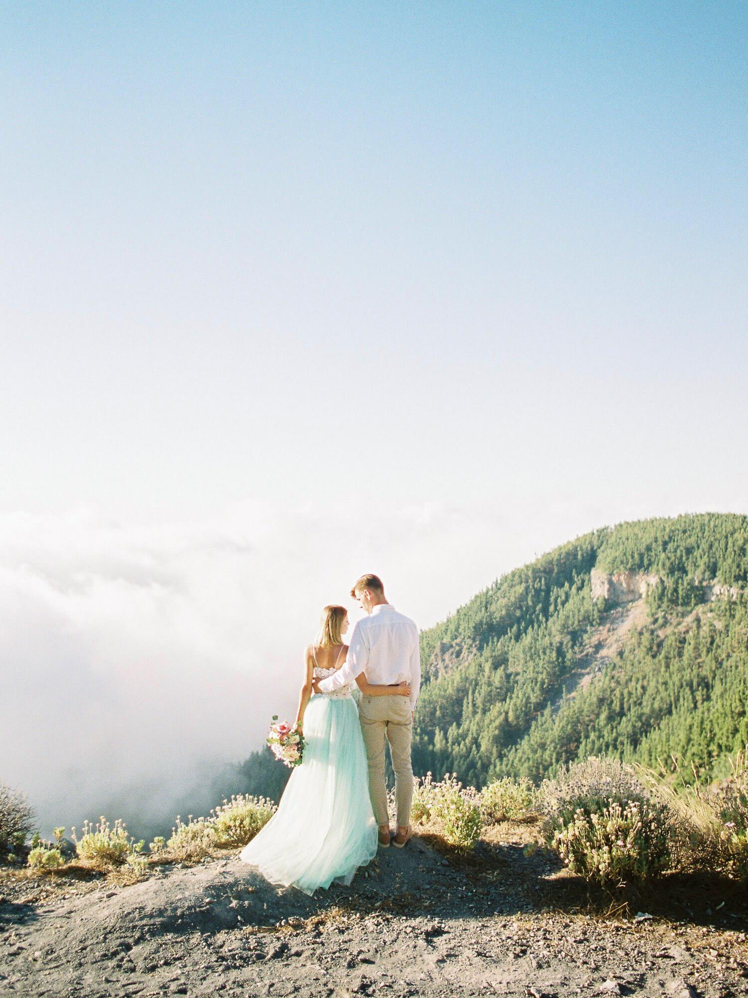 wedding photoshoot on Teide in Tenerife