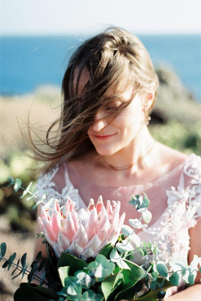 romantic bride in Tenerife