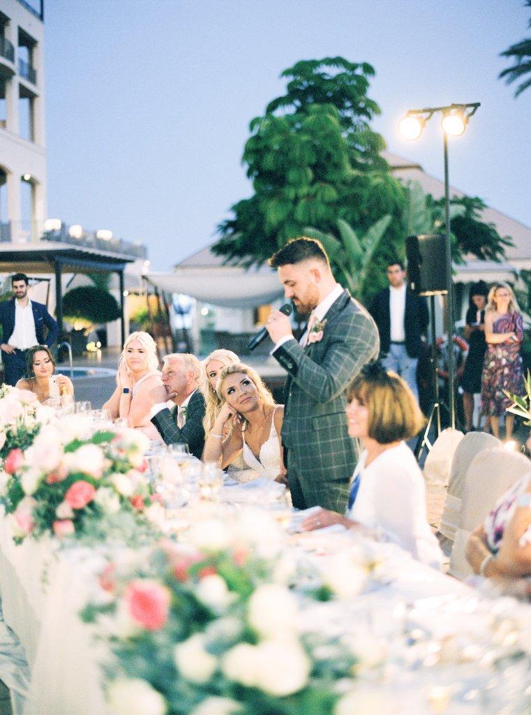 groom's speech on a wedding