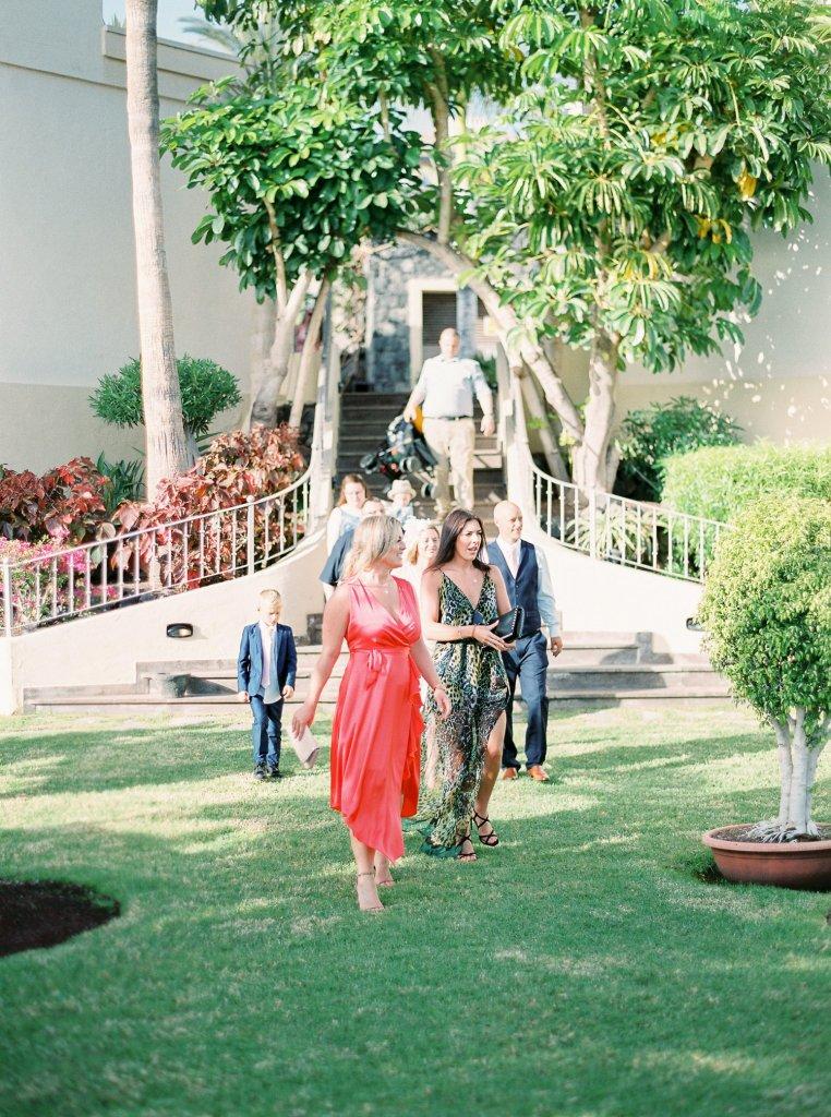 reception on a wedding in Tenerife