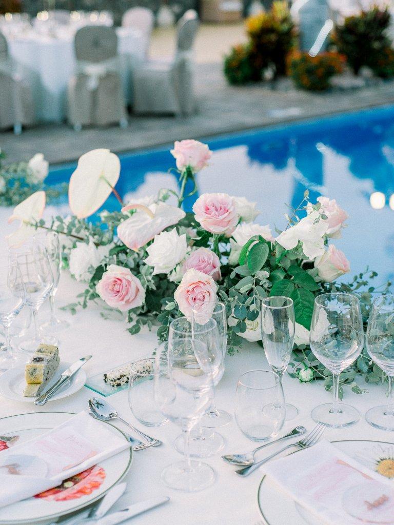 centrepiece flower design wedding in Tenerife