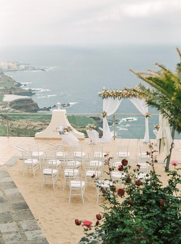 private villa wedding in north Tenerife