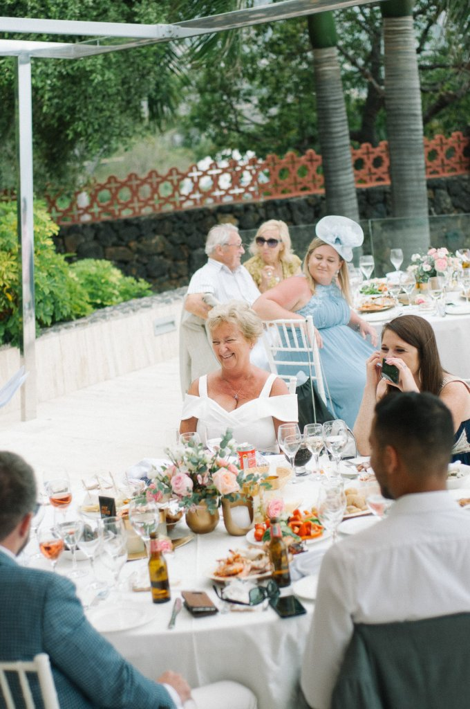 guests on a wedding in north Tenerife
