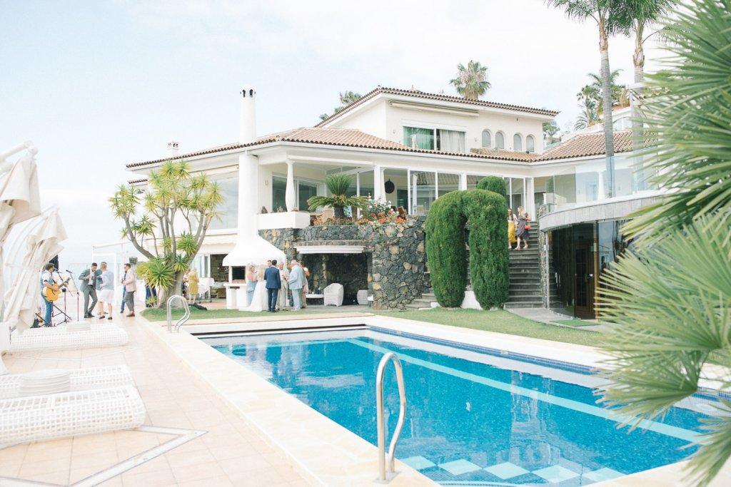 wedding on a private villa in Tenerife