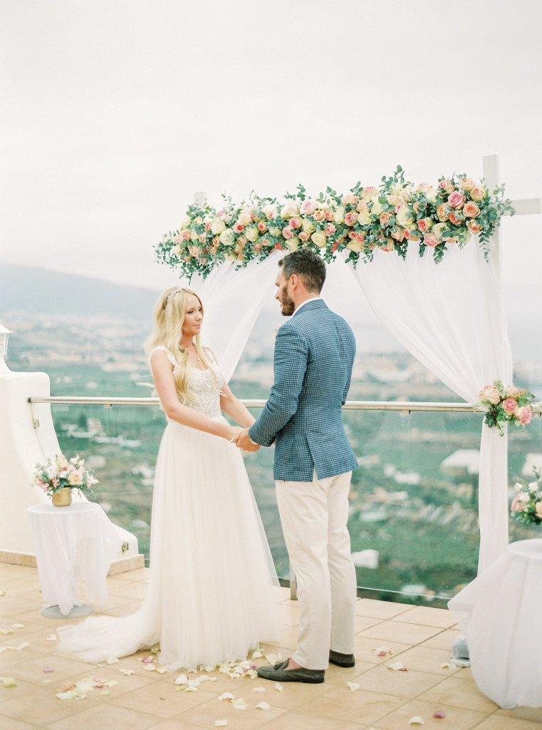 wedding ceremony in Tenerife, Spain