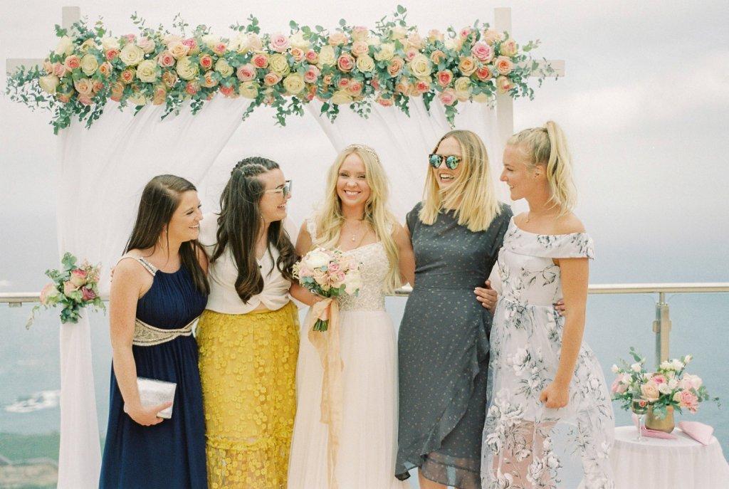 bride and bridesmaids in Tenerife